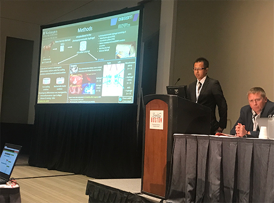 Dr. Haneda presenting at the AOSSM in Boston in  2019