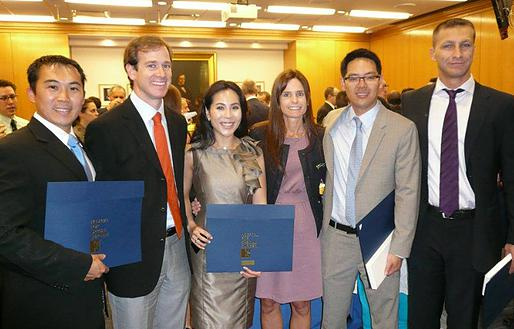 Dr. Pascual-Garrido, MD, PhD with co-fellows at Hospital for Special Surgery Graduation